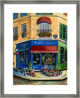French Flower Shop Framed Print