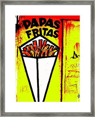 French Fries Santiago Style  Framed Print by Funkpix Photo Hunter