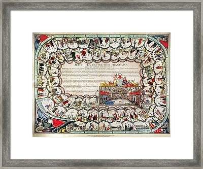 French Game Board, 1791 Framed Print by Granger