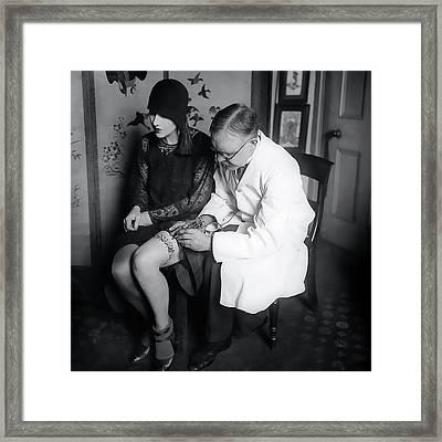 French Garter Tattoo   1930 Framed Print