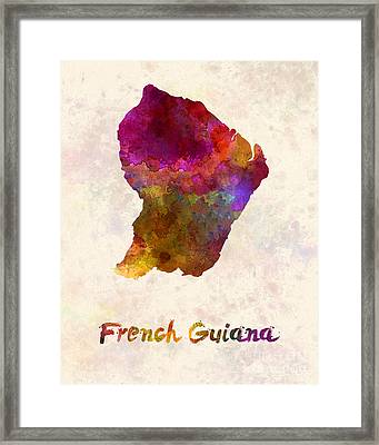 French Guiana In Watercolor Framed Print by Pablo Romero