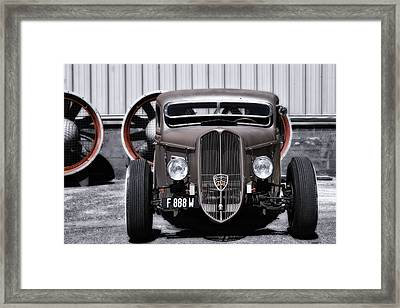 French Hot Rod Framed Print
