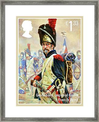 French Imperial Guard Grenadier Framed Print by Lanjee Chee