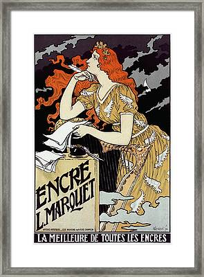 French Ink Advertisement Framed Print