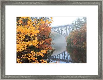 French King Bridge Autumn Framed Print by John Burk