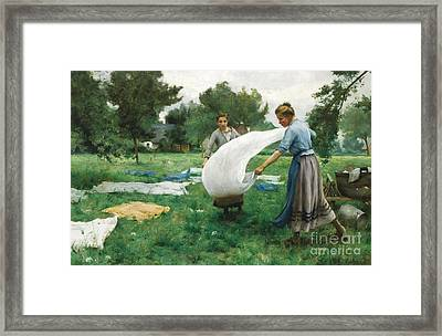 French La Lessive Framed Print by MotionAge Designs
