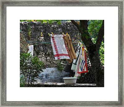 French Laundry Framed Print