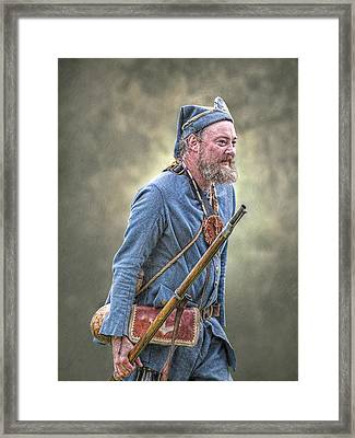 French Marine Portrait Framed Print by Randy Steele