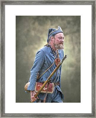 French Marine Portrait Framed Print by Randy Steele