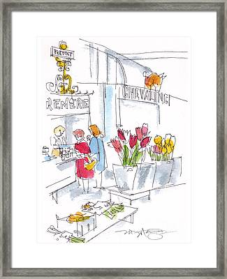 French Market Day Framed Print