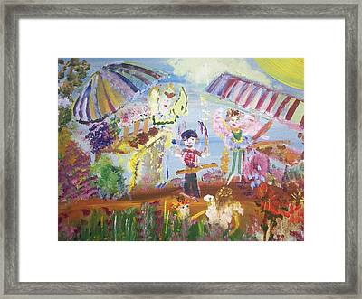 Framed Print featuring the painting French Market Fairies by Judith Desrosiers