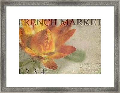 French Market Series J Framed Print by Rebecca Cozart