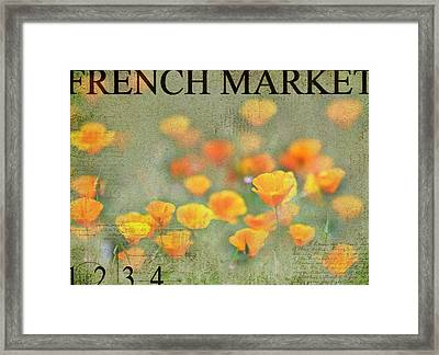 French Market Series Q Framed Print by Rebecca Cozart