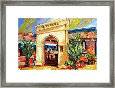 French Market Sunshine Framed Print by Diane Millsap