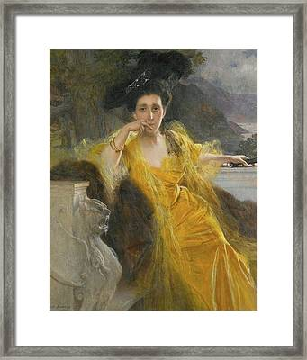 French Mme Marie Framed Print