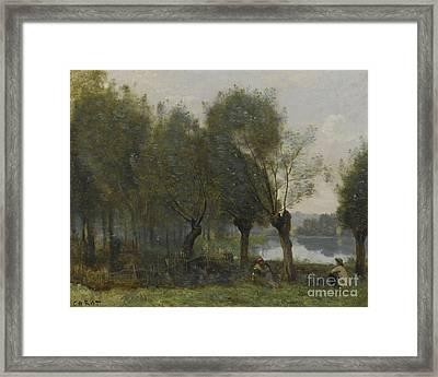 French Montgeron Saulaie Au Bord Framed Print