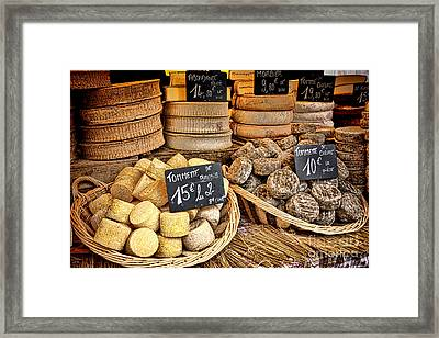 French Mountain Cheese Framed Print by Olivier Le Queinec