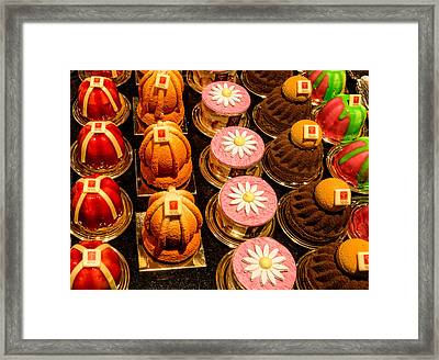 French Pastries In Lyon Framed Print