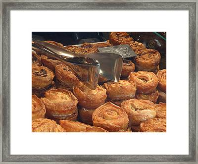 French Pastries Framed Print