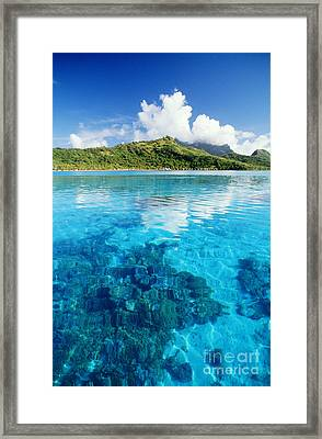 French Polynesia, View Framed Print by Joe Carini - Printscapes