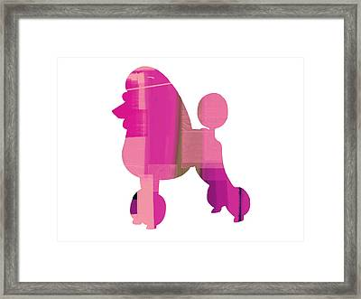 French Poodle Framed Print by Naxart Studio