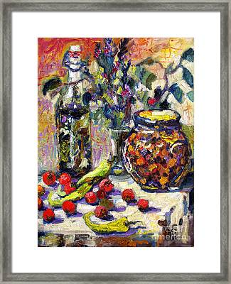 French Provence Cooking Still Life Framed Print by Ginette Callaway