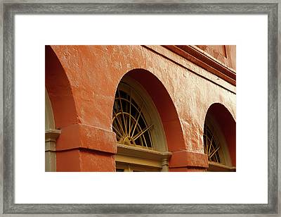 Framed Print featuring the photograph French Quarter Arches by KG Thienemann