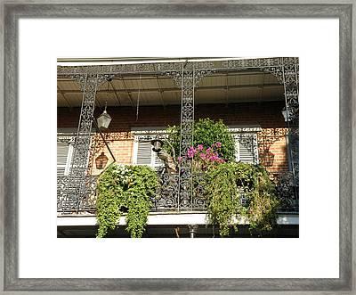 French Quarter Balcony Framed Print by Jack Herrington