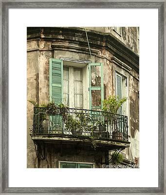 French Quarter Balcony Framed Print