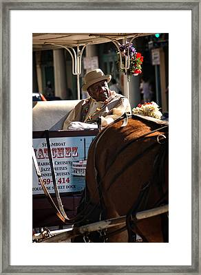 French Quarter Carriage Framed Print