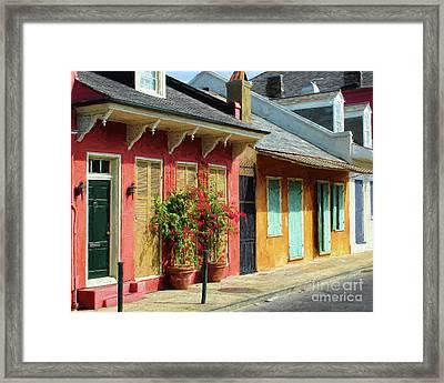 French Quarter Cottages Framed Print by Kathleen K Parker
