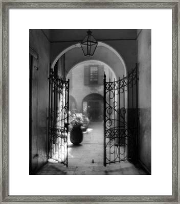 French Quarter Courtyard Framed Print