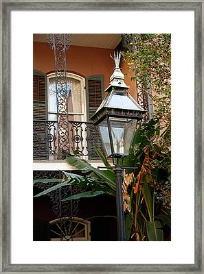 Framed Print featuring the photograph French Quarter Courtyard by KG Thienemann