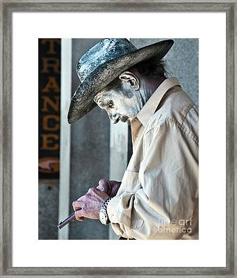 French Quarter Cowboy Mime Framed Print by Kathleen K Parker