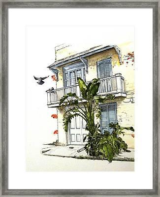 French Quarter Crib Framed Print by D K Betts
