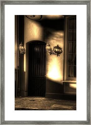 French Quarter Door Framed Print by Greg and Chrystal Mimbs