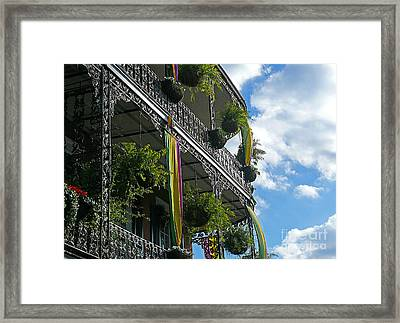 French Quarter Iron Work Framed Print by Jeanne  Woods