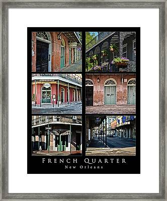 French Quarter - New Orleans - Collage Framed Print