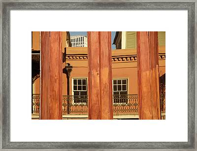 French Quarter Reflection Framed Print