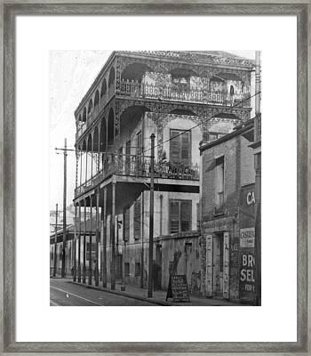 Dauphine St Residence Framed Print