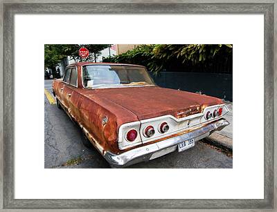 French Quarter Rusty Chevy Framed Print