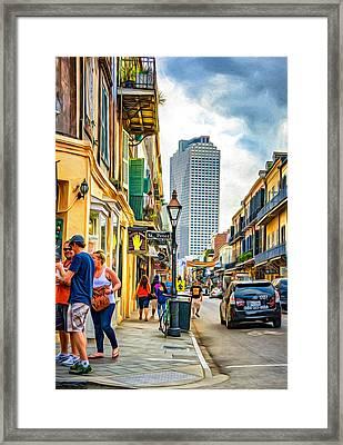 French Quarter Sidewalk 2 - Paint Framed Print by Steve Harrington