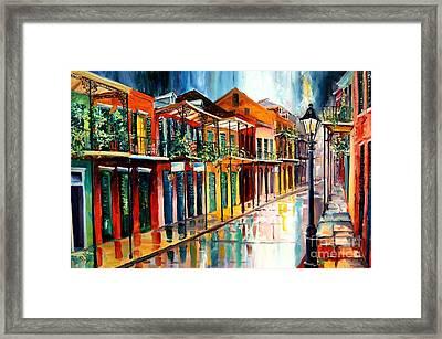 French Quarter Spring Rain Framed Print
