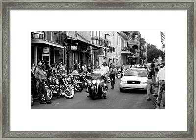 Framed Print featuring the photograph French Quarter Street Scene by Kate Purdy