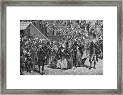 French Revolution Women Led By Framed Print by Vintage Design Pics