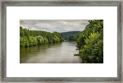 French River Landscape Framed Print by Georgia Fowler