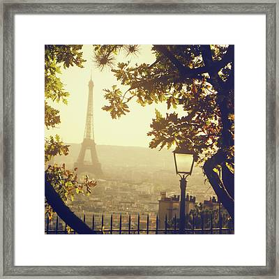 French Romance Framed Print