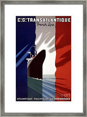 French Shipping Line Poster Framed Print