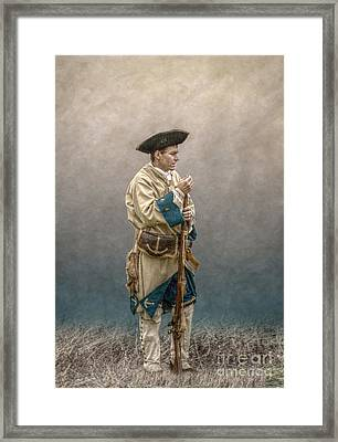 French Soldier French And Indian War Framed Print by Randy Steele