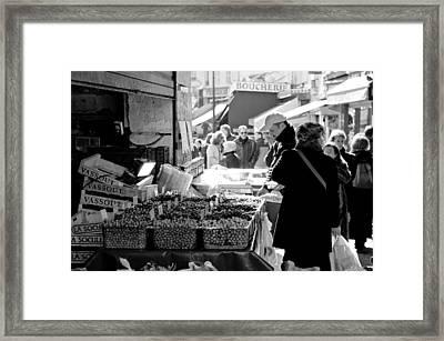 French Street Market Framed Print by Sebastian Musial